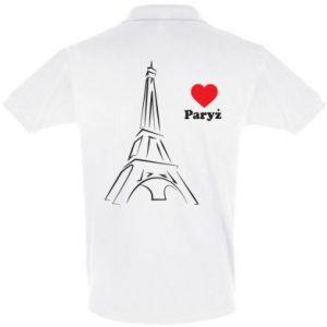 Koszulka Polo Paryżu, kocham cię - PrintSalon