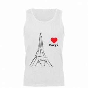 Męska koszulka Paryżu, kocham cię