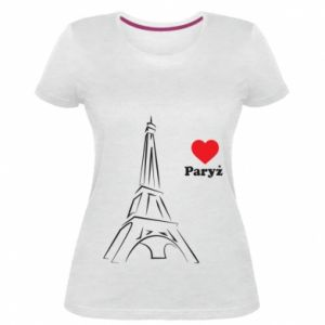 Damska premium koszulka Paryżu, kocham cię - PrintSalon