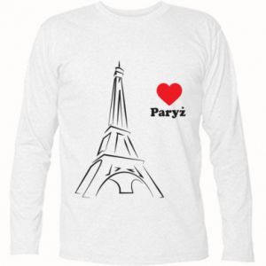 Koszulka z długim rękawem Paryżu, kocham cię