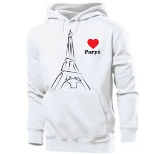 Men's hoodie Paris I love you
