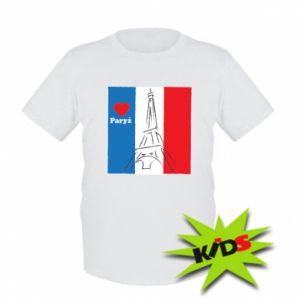 Dziecięcy T-shirt Kocham Paryż