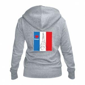 Damska bluza na zamek Kocham Paryż
