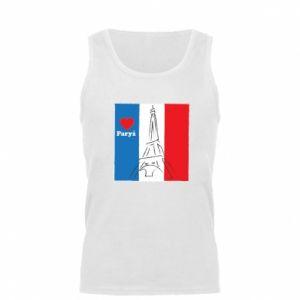 Męska koszulka Kocham Paryż