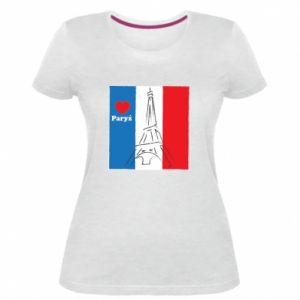 Damska premium koszulka Kocham Paryż