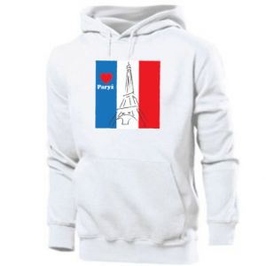 Men's hoodie I love Paris
