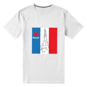 Męska premium koszulka Kocham Paryż