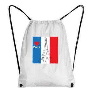 Plecak-worek Kocham Paryż
