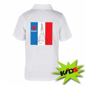 Dziecięca koszulka polo Kocham Paryż