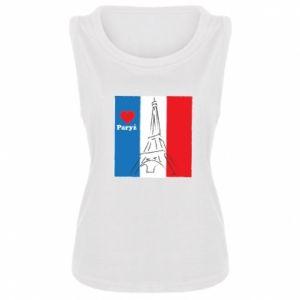 Damska koszulka bez rękawów Kocham Paryż