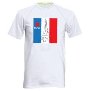 Męska koszulka sportowa Kocham Paryż