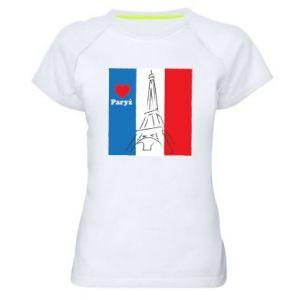 Damska koszulka sportowa Kocham Paryż
