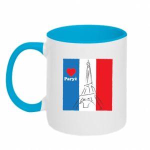 Kubek dwukolorowy Kocham Paryż