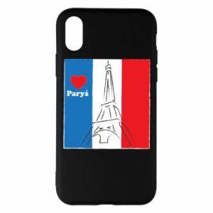 Etui na iPhone X/Xs Kocham Paryż