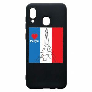 Etui na Samsung A20 Kocham Paryż