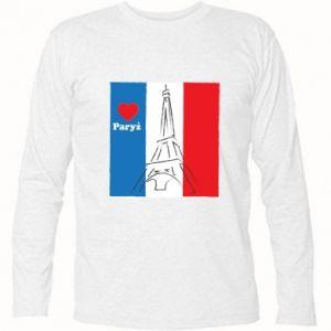 Koszulka z długim rękawem Kocham Paryż