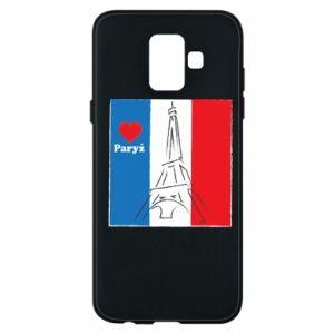 Etui na Samsung A6 2018 Kocham Paryż