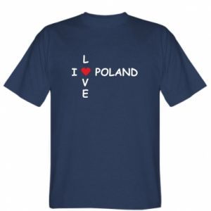 T-shirt I love Poland crossword