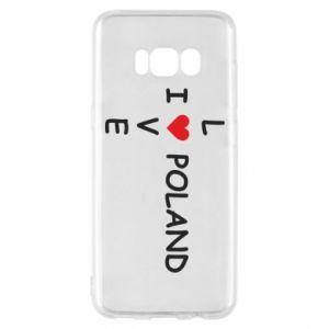 Samsung S8 Case I love Poland crossword