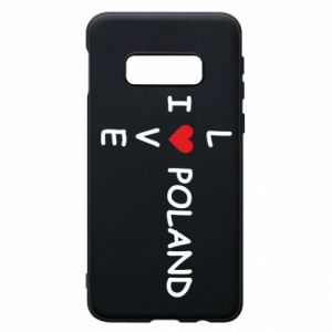 Phone case for Samsung S10e I love Poland crossword