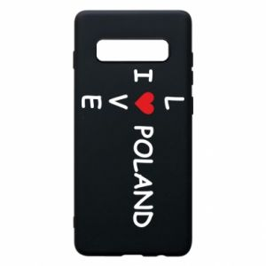Phone case for Samsung S10+ I love Poland crossword