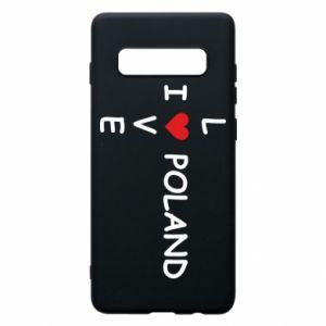 Samsung S10+ Case I love Poland crossword