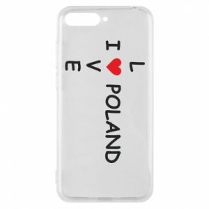 Phone case for Huawei Y6 2018 I love Poland crossword