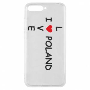 Huawei Y6 2018 Case I love Poland crossword