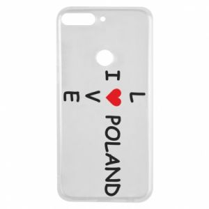 Phone case for Huawei Y7 Prime 2018 I love Poland crossword