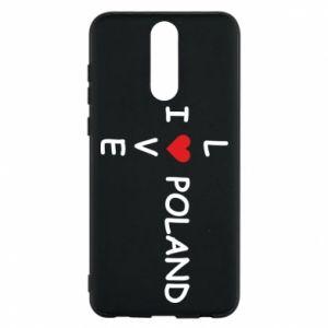 Etui na Huawei Mate 10 Lite I love Poland crossword - PrintSalon