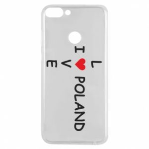 Phone case for Huawei P Smart I love Poland crossword