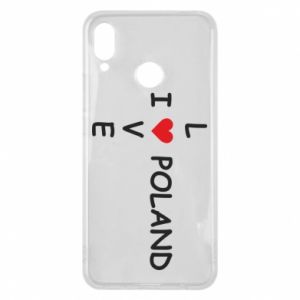 Etui na Huawei P Smart Plus I love Poland crossword - PrintSalon