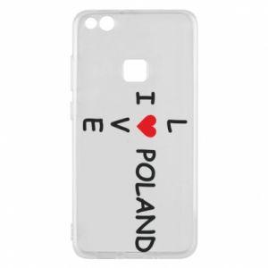 Etui na Huawei P10 Lite I love Poland crossword - PrintSalon