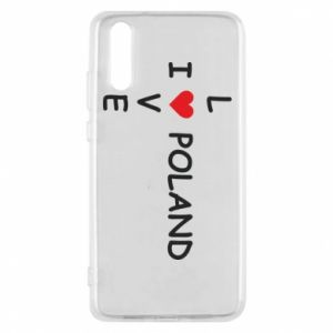 Etui na Huawei P20 I love Poland crossword