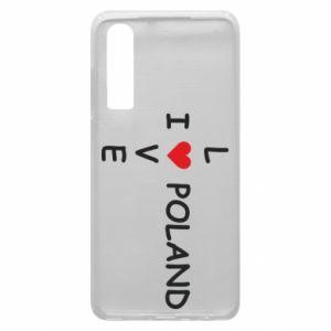 Etui na Huawei P30 I love Poland crossword