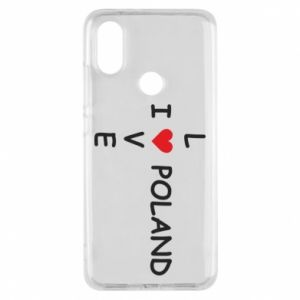 Xiaomi Mi A2 Case I love Poland crossword