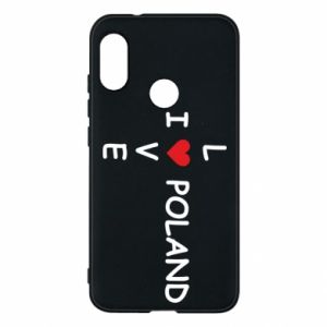 Phone case for Mi A2 Lite I love Poland crossword