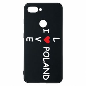 Phone case for Xiaomi Mi8 Lite I love Poland crossword