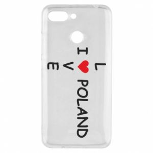 Phone case for Xiaomi Redmi 6 I love Poland crossword