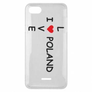 Xiaomi Redmi 6A Case I love Poland crossword