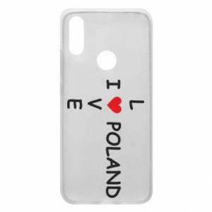 Xiaomi Redmi 7 Case I love Poland crossword