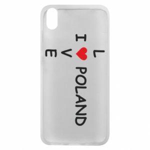 Xiaomi Redmi 7A Case I love Poland crossword