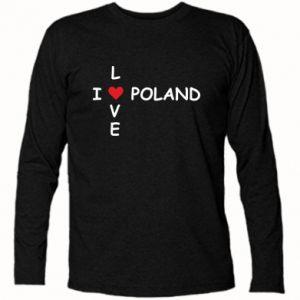 Koszulka z długim rękawem I love Poland crossword