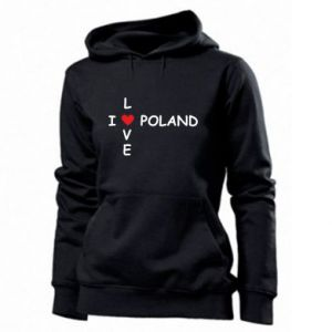 Women's hoodies I love Poland crossword
