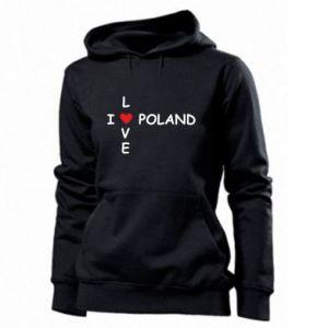 Damska bluza I love Poland crossword - PrintSalon