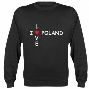 Bluza (raglan) I love Poland crossword - PrintSalon