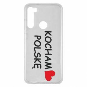 Xiaomi Redmi Note 8 Case I love Poland