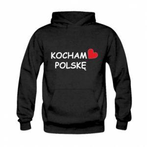 Kid's hoodie I love Poland