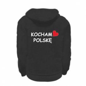 Kid's zipped hoodie % print% I love Poland