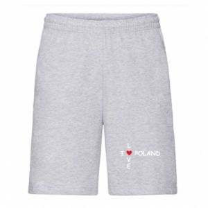 Men's shorts I love Poland crossword